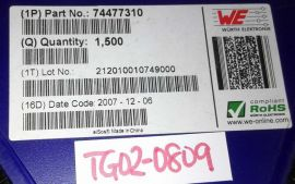 1500pcs Wurth 74477310 INDUCTOR POWER 10UH 1.45A SMD $0.7/pc