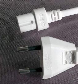 UK Power Cord WELL SHIN SONOS WS-027-7 WS-006 White 2 Prong Port