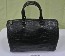 CH CHCH Black Handbag Carry-bag Crocodile Skin AACA10DG01094
