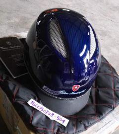 Lamborghini CFC113840004S CAP C1 Carbon Shine Blue Helmet New