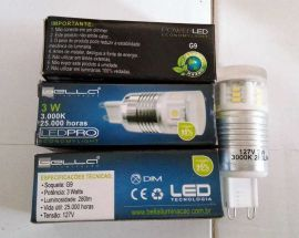 5 pcs G9 3W LED BULBS 280lm 3000K 110-127V energy green 25000hours $1/pc