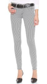 """Club Monaco skinny slim striped jeans """"Carolina"""" low rise size 0 NEW"""
