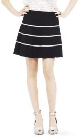 Club Monaco Kallen Skirt JUPE CREAM GRND STRIPE/CREME S size 4