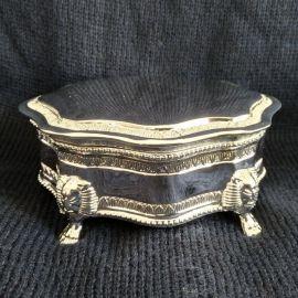 silver coating jewelry box 10*10*6cm