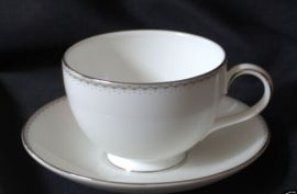 Monique Lhuillier for Royal Doulton Dentelle - Tea Saucer&Tea Cup  Set