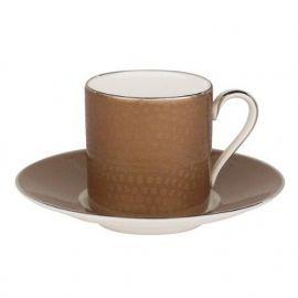 Royal Doulton Monique Lhuillier ATELIER ESPRESSO CUP SABLE & SAUCER SABLE Set