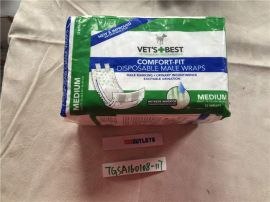 Vet's Best Comfort Fit 12 Count Disposable Male Dog Wraps, Medium
