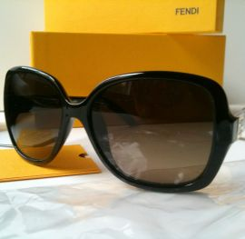 FENDI FS5227 003 Sunglasses Black Frame Brown Lens Golden Label Women