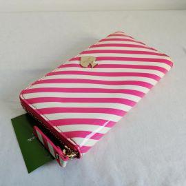 Katespade PWRU3591 First Prize Lacey Pink/White strips Wallet