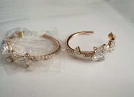 Coutome Jewelry Pair of Earings Crystal