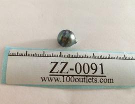 Tahiti Cultured Black Pearl Grade B size 10.64mm Ref. CERDEE